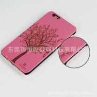 iPhone手机壳亚马逊新款pc塑料木质iPhone5s 6s保护套速卖通现货