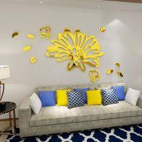 镜面花亚克力3d立体墙贴壁纸自粘客厅餐厅卧室房间装饰品温馨布置