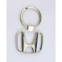 厂家供应 简单新颖平面模具金属锌合金压铸本田车标镂空钥匙扣