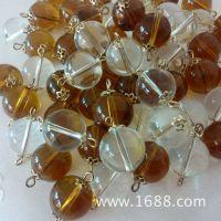 厂家直销 亚克力透明珠 耳环配件 花瓶吊饰 手工珠串珠配饰