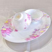 创意56头陶瓷餐具套装 高档骨瓷碗盘厨房餐厅用品碗碟盘子礼品