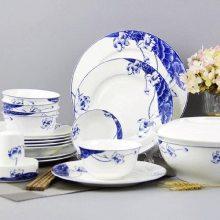 景德镇陶瓷碗碟 青花陶瓷碗青花瓷礼品赠品 餐具套装定制