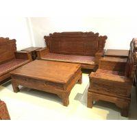 广东御匠红木家具厂古典缅甸花梨客厅沙发明式家具刺猬紫檀沙发六件套亏本出