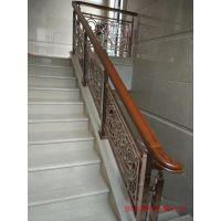 阳信别墅楼梯扶手 各种弧形楼梯铜艺雕花栏杆效果图