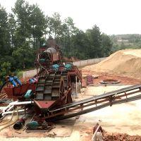 铜陵风化砂水洗轮洗砂机 顺流槽水力选矿设备