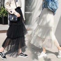 产地货源直批 新款春款韩国半身裙重工蛋糕高腰A字长裙仙女网纱裙