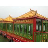 湖北安徽出售仿古游船画舫船 船检画舫船 华海木质游船观光船厂家