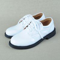 夏季新品正装男童鞋小孩白色皮鞋中小学生钢琴表演儿童主持人西服