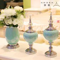 礼品挂件客厅欧式花瓶摆件家居饰品餐桌仿真花套装样板间酒柜玄关