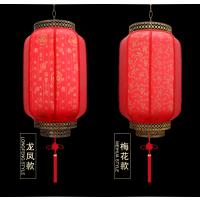 可订制印字 中式仿古灯笼 户外防水材质 中式仿古羊皮灯笼来图定制