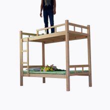 梦航家具批发实木床上下铺学生双层床 学生木质高低床 员工宿舍高低床