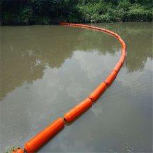 整体式塑料拦漂浮体 20cm河道拦污索浮筒价位