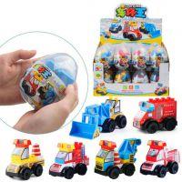 新款创意车仔扭蛋积木 diy拼装交通工程车系 儿童益智奇趣蛋玩具