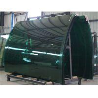 供应 10mm半圆形热弯玻璃 按图纸定制加工折弯工程装修玻璃
