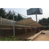 驻马店七色自行车膜结构遮阳棚 鹤壁膜结构雨棚厂家