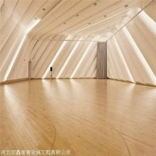 体育篮球馆专用木地板 安装结构因地制宜