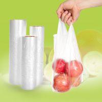 家用加厚背心型保鲜袋食品袋包装袋透明塑料袋手提袋超市连卷袋子