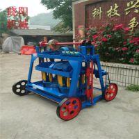 全自动水泥免烧制砖机 小型移动空心砖机 水泥砌块成型机设备