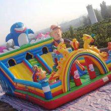 专业厂家定做气模玩具熊出没款充气城堡大滑梯游乐设备充气蹦蹦床