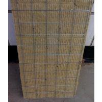 干挂石材填充保温岩棉板工厂价直销 挂钢丝网国标保温岩棉板WK87