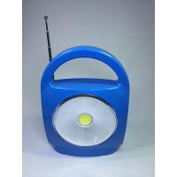 蓝牙音箱COB手提灯多媒体迷你户外收音机手机智能COB工作灯露营灯