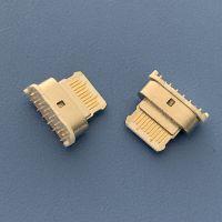 TYPE C 14P/180度直插母座 USB 3.1 14P/立式直插母座 原装苹果款C型高频插座