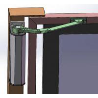 成都蓬远拉臂式电动闭门器小区广告门楼宇入户单元门禁系统平开门电机