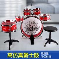 儿童仿真乐器 益智玩具 架子鼓带凳子套装 爵士鼓 培养音乐才能
