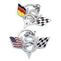V8美国旗 V8德国旗改装钥匙扣 亚马逊速卖通ebay精品