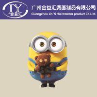 热播电影卡通动漫小黄人 服装热转印烫画广州厂家现货供应