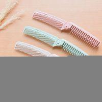 E523 便携式小麦梳子随身化妆梳子 美发梳家用长发防静电密齿梳