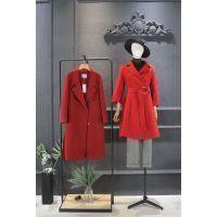 麦中林北京 服装尾货批发市场地址折扣 品牌女装货尾尾货酒红色大码女装