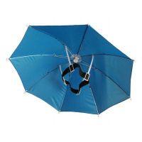 头戴式帽伞定制、儿童帽子伞头戴式遮阳雨伞钓鱼帽子伞批发