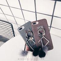 日韩冬季复古毛球吊坠iphone7pus手机壳6s个性8X软壳7女款8plus