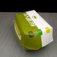 汉堡纸盒 现货厂家批发 一次性 自折汉堡盒 快餐食品包装纸盒定制
