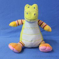 绿色小鳄鱼 毛绒动物卡通鳄鱼玩具坐姿外贸玩偶来图来样定做