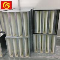 W型镀锌框大风量高效过滤器无隔板滤芯阻力小H13H14V型上海恒歌