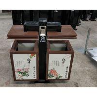 景区钢板分类垃圾桶 UV打印实景画面 青蓝QL6216按需定制