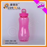 个性葫芦型塑料水壶快速降温水瓶带吸管 多功能水壶带冰冻管水杯