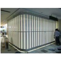 上海商场PVC侧向水晶推拉门价格,便宜水晶侧向门生产厂家