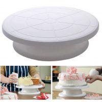 批发可手动旋转圆形塑料蛋糕转盘 蛋糕烘焙工具裱花转台 烘焙用品