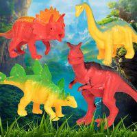 厂价批发赠品4件套塑胶恐龙模型玩具 公仔摆件男孩DIY过家家套装