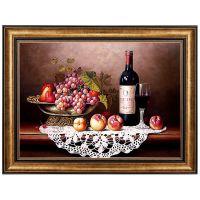 欧式餐厅墙壁饭厅装饰画餐桌红酒水果墙上挂画美式酒柜墙面油画