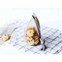 烘焙包装 咖啡色饼干袋 磨砂半透明曲奇袋/面包袋/平口袋 50只入