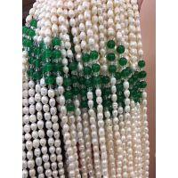 养殖场珍珠项链电视购物订单库存天然淡水珍珠项链批发会销礼品