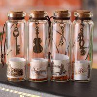 复古许愿瓶 世界风景幸运瓶玻璃小号木塞漂流瓶子创意家居批发