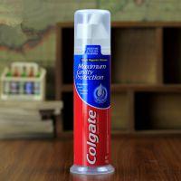 出口泵压式美白牙膏代加工,去黄牙膏oem贴牌厂家一件代发
