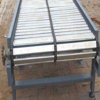 厂家直销不锈钢链板输送机 耐高温提升机 可定制304食品链板输送转弯机