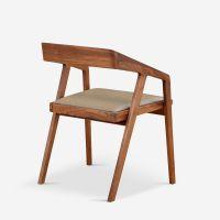 书房餐厅北欧风实木带海绵靠背海绵坐垫书椅餐椅可定制