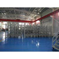 管材使用伸缩式悬臂货架在狭小空间内存放 安全 快捷 节省